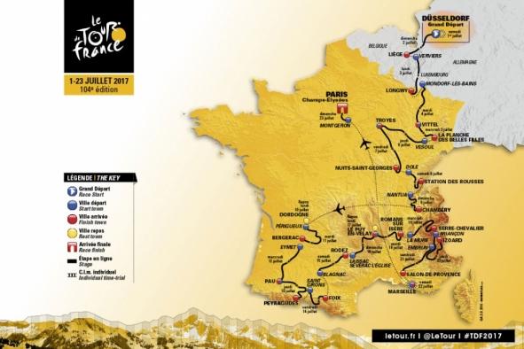 Tour de France, Map, TDF, Etape, Serre Chevalier, France, Cycling, Bikes, Tour, 2017,