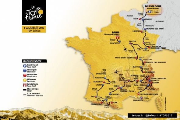 Tour de France, Map, TDF, Etape, Serre Chevalier, France, Cycling, Bikes, Tour, 2017,